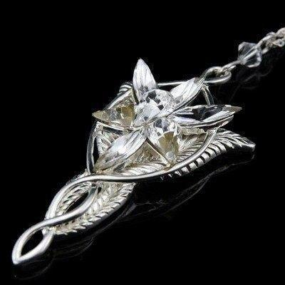 Sterling Silver, Lord of The Rings Jewelry - Arwen Evenstar Pendant