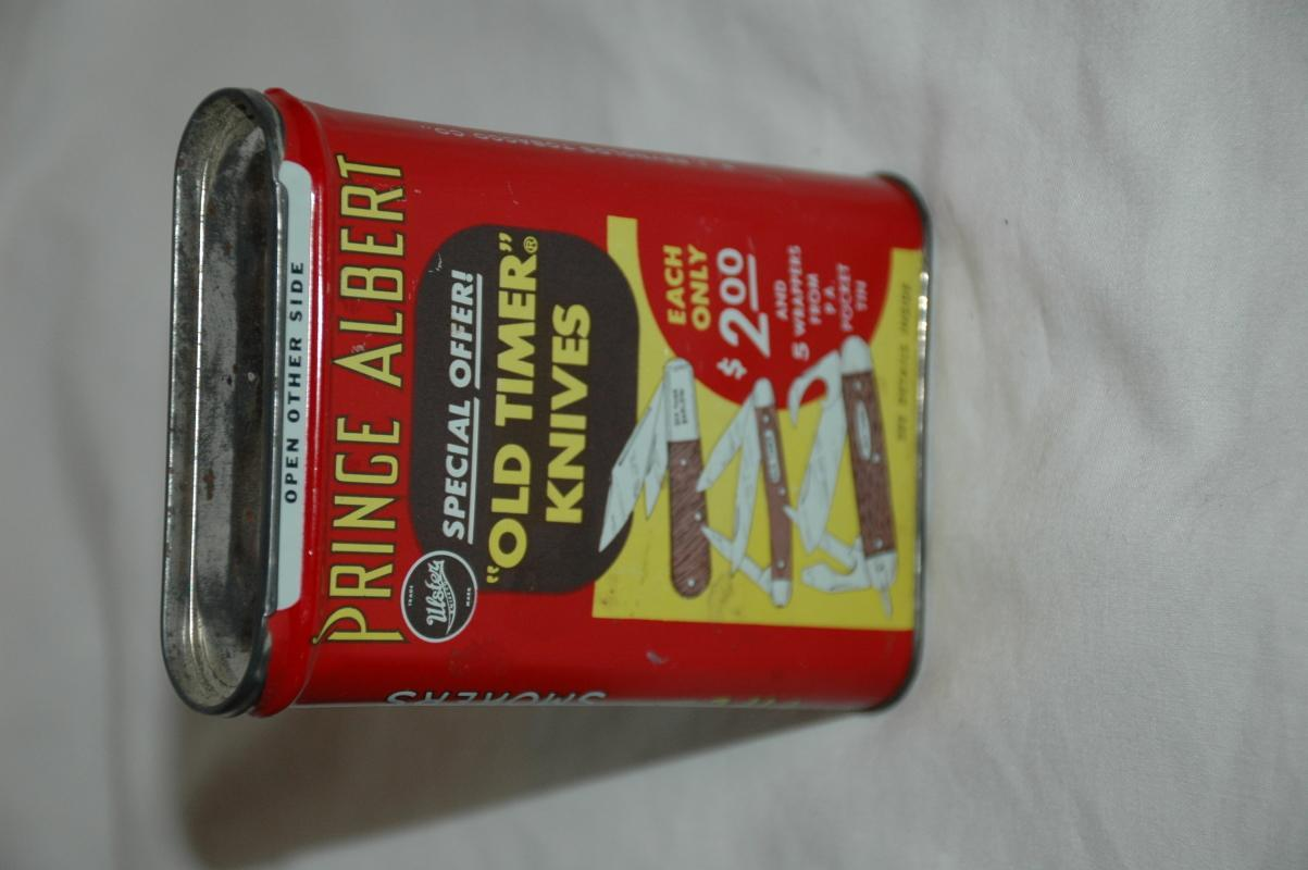 Prince Albert Crimp Cut Long Burning Pipe Cigarette Tobacco Tin with original paper insert
