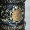 Old Austrian or German Coin Beer Stein Franz Jos / Mother Theresa