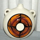 Native American Navajo Pottery Water Flask - signed