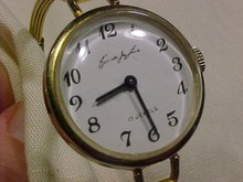 Kenneth Jay Lane Ladies Goldtone watch 17 Jewels- manual wind vintage