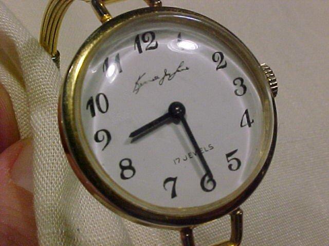 Kenneth Jay Lane Ladies Goldtone watch 17 Jewels- manual wind vintage