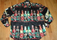 Imported Beer Silk Shirt  men's  Sm Cedars Sports
