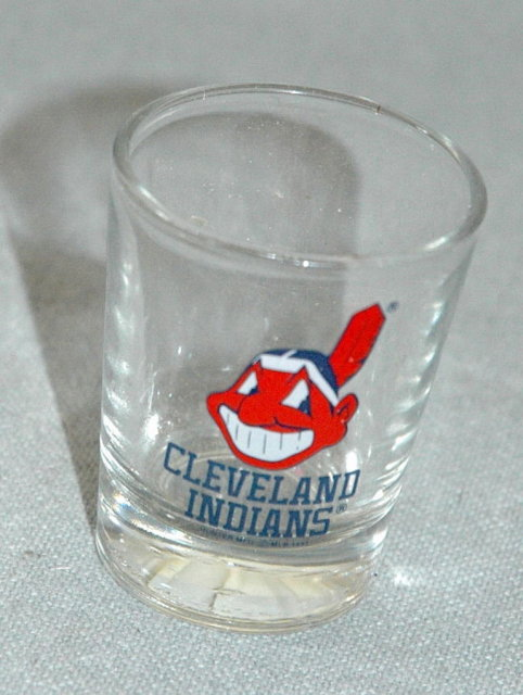 Cleaveland Indians Shot Glass