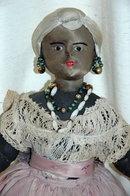 Vintage Black Cloth Doll Anatomically Realistic