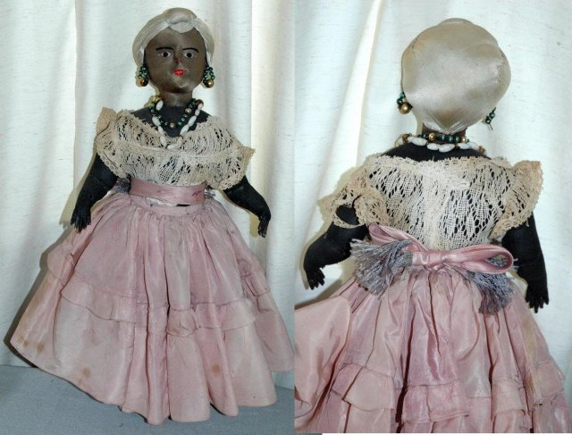 Vintage Black Cloth Doll Anatomically Realistic