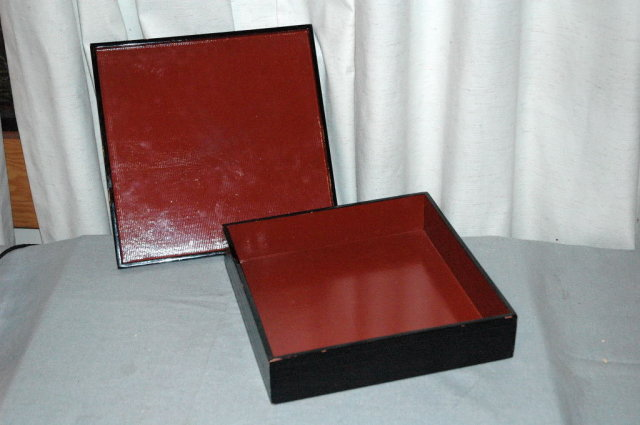 Japanese Black Wood  Lacquer Box ** PRICE REDUCED !*