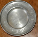 Old Vestinn Norway Pewter Dish  with Viking ships
