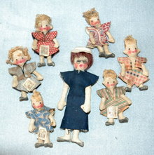 Teacher & 6 Students Rag Doll SET