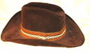 Brown Velvet Cowboy or Cowgirl Fedora Hat