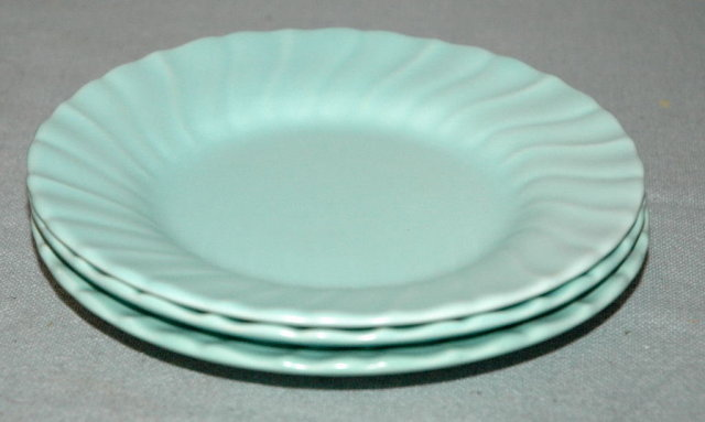 3 turquoise blue Franciscan Coronado Bread Plates by Gladding McBean