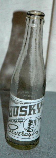 Husky Brand Beverages Soda Bottle