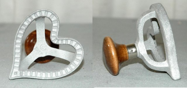Heart Shape Pastry Item of aluminum with wood knob