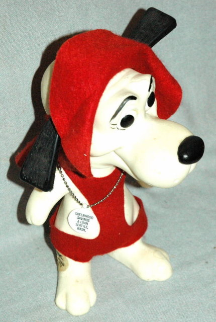 Vintage Plastic Beagle Dog Bank Deputy Dawg
