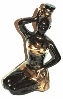 Rare Black African Beauty  Woman Decanter   ** PRICE REDUCED !**