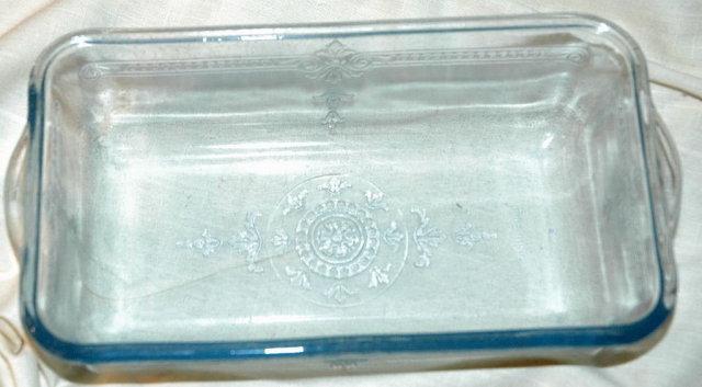Blue Fire King Glass Loaf Baking Dish -Vintage