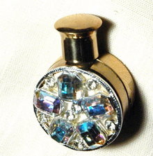 Aurora Borealias Encrusted Goldtone Perfume   * PRICE REDUCTION SALE!**