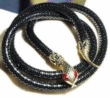 Black & Goldtone Snake Belt with Red Eyes    * PRCE REDUCED !**