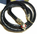 Black & Goldtone Snake Belt with Red Eyes    * PRCE REDUCED !**