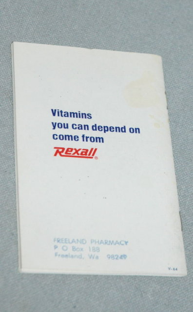 Booklet re: Plain Talk About Vitamins from Rexall