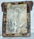 Mexican Tin Nicho  Frame Jesus on the Cross