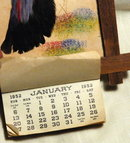 1952 complete Calander with Peacock  Bird