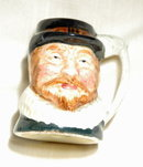 Hand Painted English Toby Mug Shot glass
