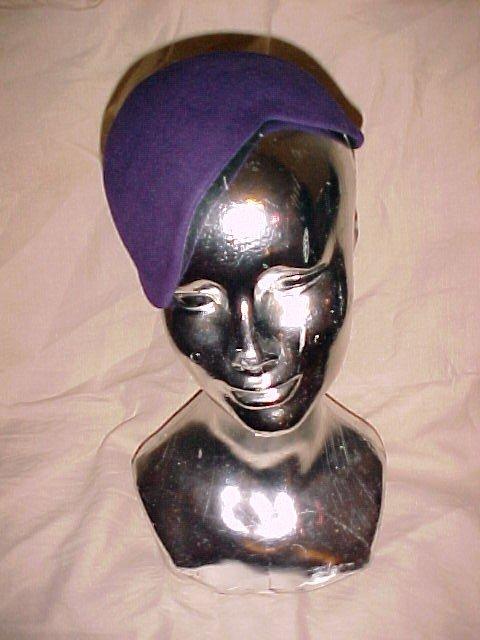 vintage wool felt cap hat