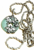 Jade & Sterling Fairy/ Hummingbird Pendant