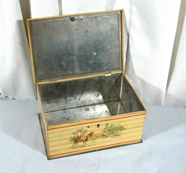 Antique Tin  with Lock