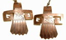 Solid Copper Kachina  Earrings Native American Handcrafted