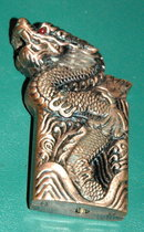 Copper Dragon with Red Eyes  Lighter  Butane