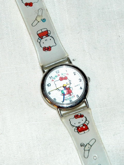 Colorful Hello Kitty watch with Gel band