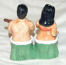 Hawaiian Man & Woman Salt and Pepper Shakers