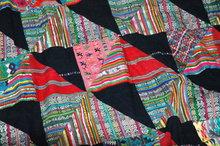 Guatamalan Patchwork Quilt of Old Mayan Huipils