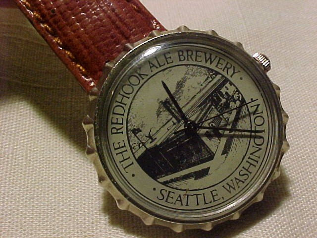 Redhook Ale Brewery Watch Seattle, WA * looks like bottle cap*