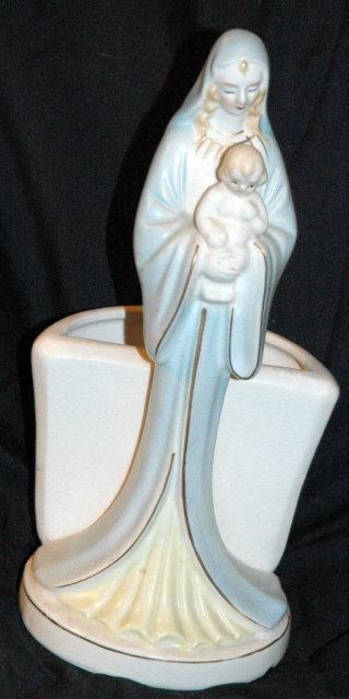 Virgin Mary & Baby Jesus Planter Napco   PRICE REDUCTION!**