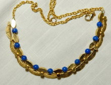 Art Deco Design Lapis Necklace by Alva
