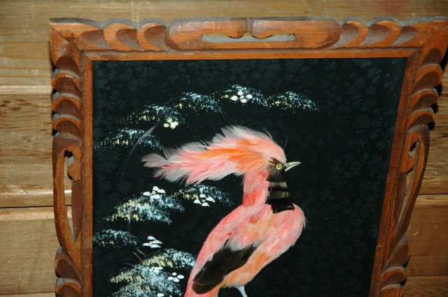 Old Mexican Feathercraft Picture of Bird