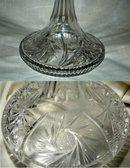Vintage Cut & Etched  Crystal Ship's Decanter