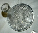Vintage Cut & Etched  Crystal Ship's Decanter