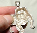 One of Kind Sterling Silver Bull Dog Pendant