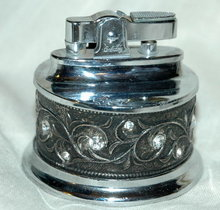 Fancy Rhinestone Table Lighter by Embassy