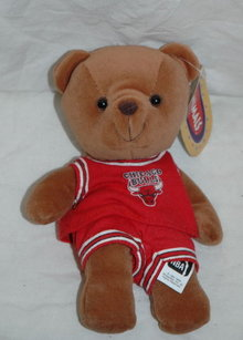 Chicago Bulls NBA Bear  beanie plush shelf sitter