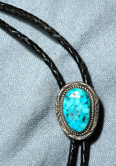 Silver & Turquoise Bolo Tie  - Bennett