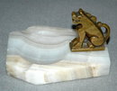 Brass Dragon  & Onyx Ashtray