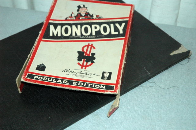 Monopoly Game 1954 Parker Brothers Popular Ed.