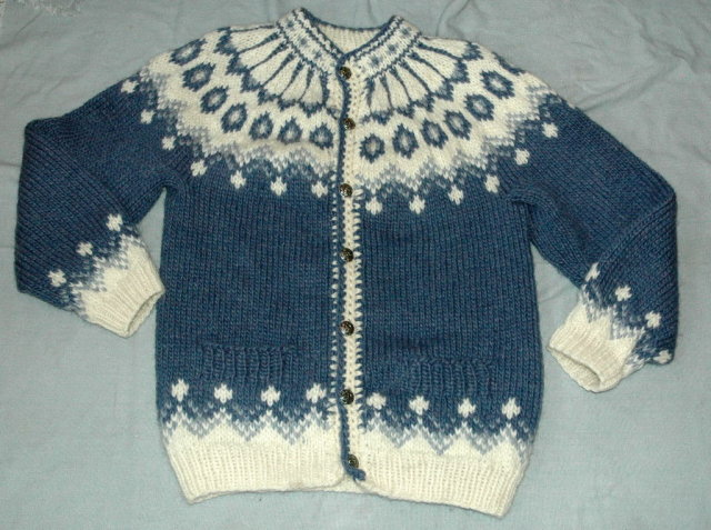 Icelandic  Rustic Wool  Knit Cardigan Sweater