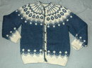 Icelandic  Rustic Wool  Knit Cardigan Sweater