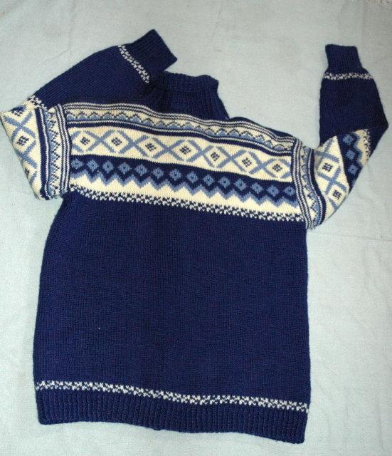 Denmark Wool Cardigan Hand knit Sweater